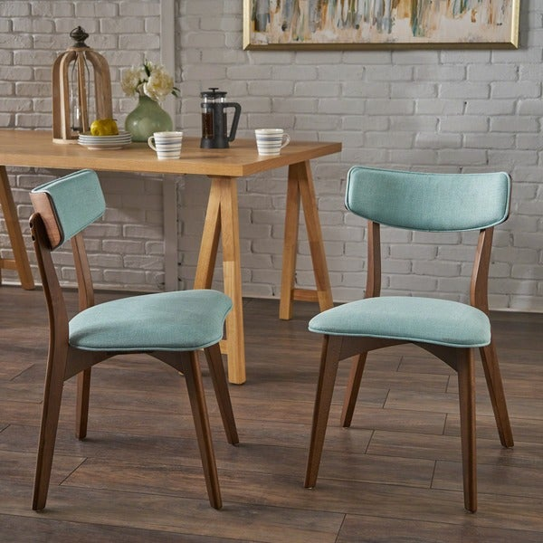 Mid Century Furniture Dining Room: Shop Abrielle Mid-Century Modern Fabric Dining Chair (Set