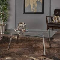 Zavier Glass Rectangle Coffee Table by Christopher Knight Home