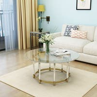 Cosimo Modern Glass Round Coffee Table by Christopher Knight Home
