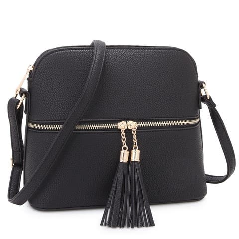 8f5b5a7e4daf Buy Black Crossbody & Mini Bags Online at Overstock | Our Best Shop ...