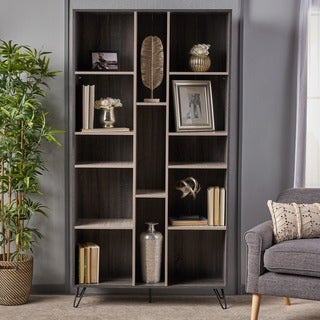 Link to Imogen Modern Faux Wood Bookshelf by Christopher Knight Home Similar Items in Bookshelves & Bookcases