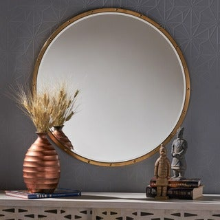 Eadie Glam Circular Wall Mirror by Christopher Knight Home