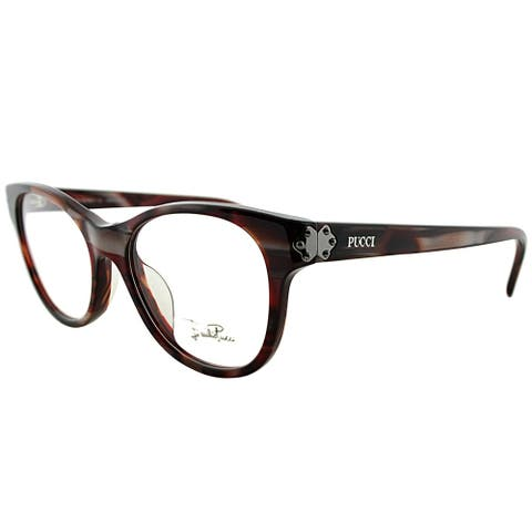 Emilio Pucci Rectangle EP 2677 615 Women Berry Striated Frame Eyeglasses