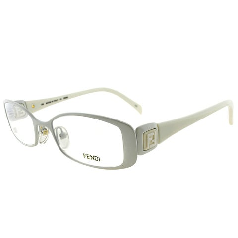 Fendi Rectangle FE 901 105 Women White Frame Eyeglasses