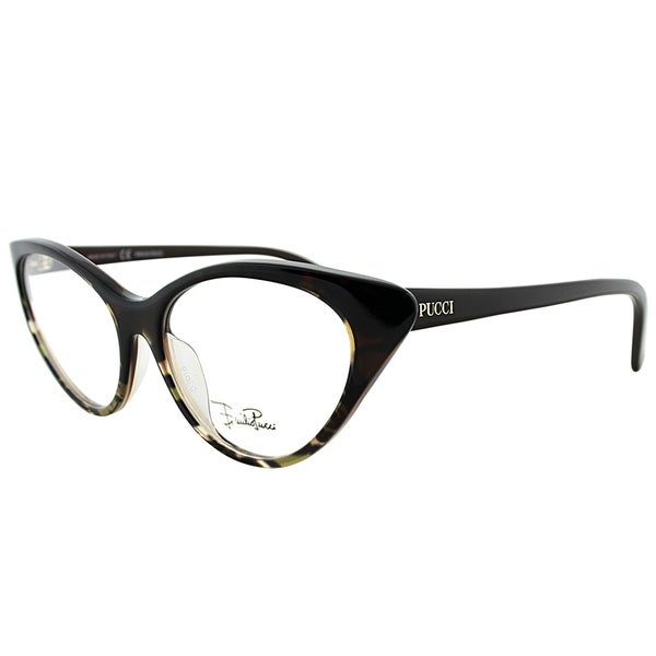 aaa5fa27a076 Emilio Pucci Cat-Eye EP 2671 236 Women Griffin On Brown Frame Eyeglasses