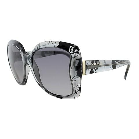 Emilio Pucci Rectangle EP 739S 35 Women Grey Pucci Print Frame Grey Gradient Lens Sunglasses