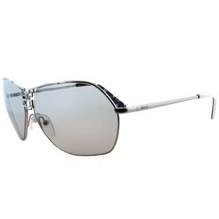 Emilio Pucci Aviator EP 110S 45 Unisex Silver Frame Silver Mirror Lens Sunglasses