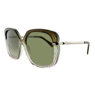 Emilio Pucci Square EP 743S 313 Women Ellisse On Brown Gradient Frame Brown Gradient Lens Sunglasses