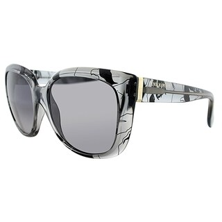 Emilio Pucci Cat-Eye EP 740S 35 Women Grey Pucci Print Frame Grey Gradient Lens Sunglasses