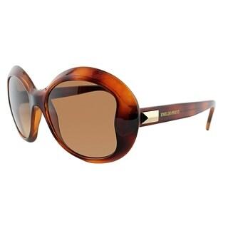 Emilio Pucci Round EP 745S 214 Women Havana Frame Brown Gradient Lens Sunglasses