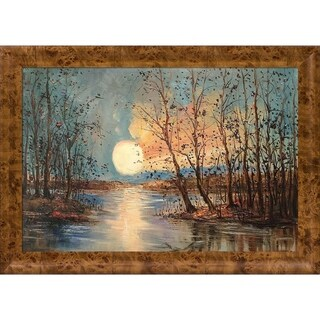 Justyna Kopania 'Moon (Reflections)' Hand Painted Oil Reproduction