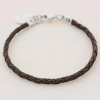 Handmade Silver Leather 'Walk of Life in Brown' Bracelet (Guatemala)
