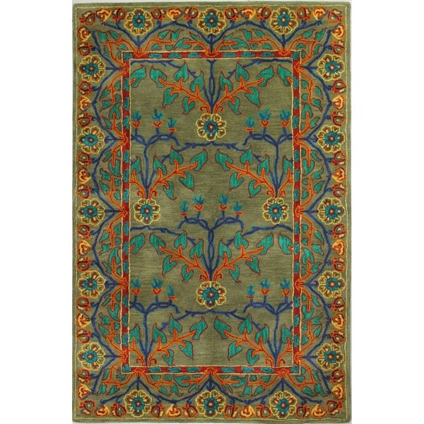 Elmsford Transitional Hand Tufted Area Rug. Opens flyout.