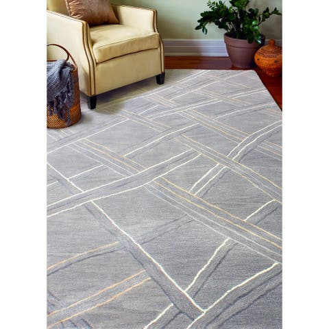 Victoria Contemporary Hand Tufted Area Rug