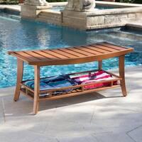 Harper Blvd Barksdale Teak Outdoor Stool/Bench