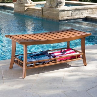 Harper Blvd Barksdale Teak Outdoor Stool/Bench