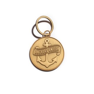 Anchors Aweigh Matte Gold Key Chain