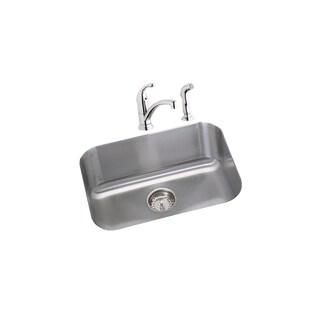 Elkay Dayton 18 Gauge Stainless Steel Single Bowl Undermount Kitchen Sink Kit DXUH2115DF Radiant Satin