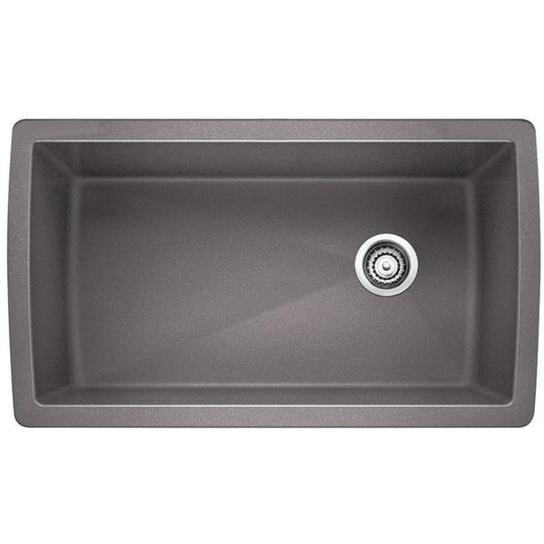 Bon Blanco Diamond Super Single Undermount Sink 441770 Metallic Gray