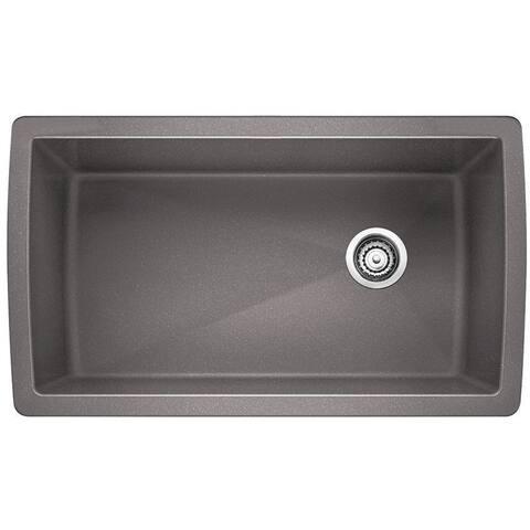 Blanco Diamond Super Single Undermount Sink 441770 Metallic Gray