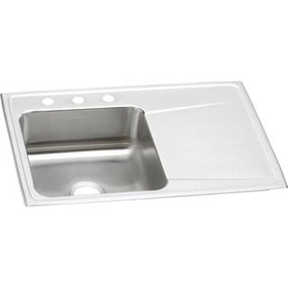 Elkay Lustertone 18 Gauge Stainless Steel Single Bowl Top Mount Kitchen Sink ILR3322L3 Lustertone