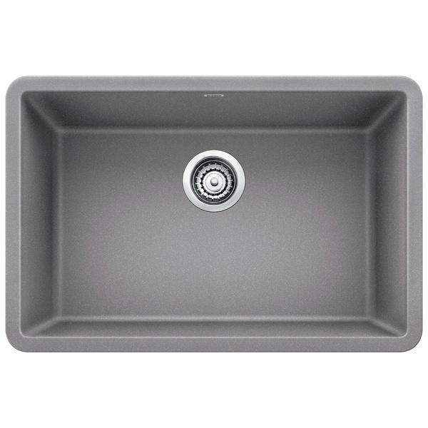 blanco precis 27 inch metallic grey single undermount sink blanco precis 27 inch metallic grey single undermount sink   free      rh   overstock com