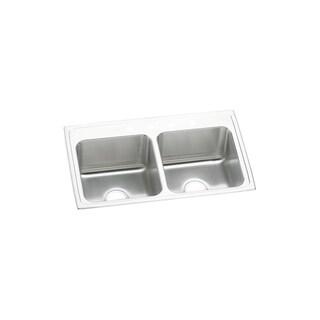 Elkay Lustertone DLR3319104 18-gauge Stainless Steel Double-bowl Top-mount Kitchen Sink