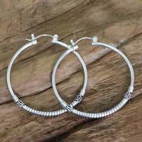 Handmade Sterling Silver 'Life's Journey' Earrings (Indonesia)