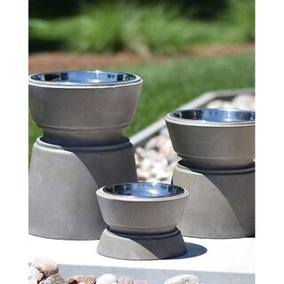Unleashed Life Wooster Concrete Elevated Pet Feeder Collection (3 options available)