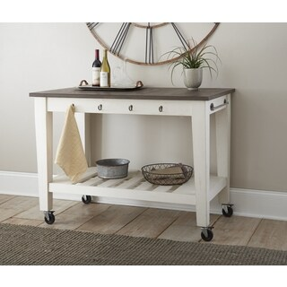 Cottonvile Two Tone Kitchen Cart on Casters by Greyson Living