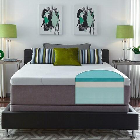 Slumber Solutions Choose Your Comfort 14-inch King-size Gel Memory Foam Mattress Set