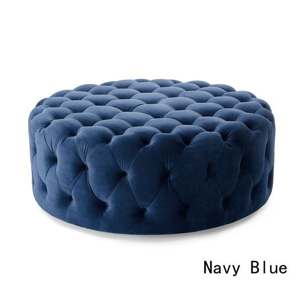 Swell Shop Corvus Tufted Velvet Round Chesterfield Ottoman With Caraccident5 Cool Chair Designs And Ideas Caraccident5Info