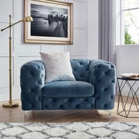 Corvus Aosta Tufted Velvet Club Chair