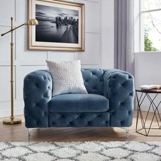 Corvus Aosta Tufted Velvet Sofa Chair