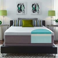 Slumber Solutions Choose-Your-Comfort Gel Memory Foam 14-inch Queen-size Mattress Set