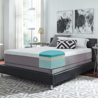 Slumber Solutions Choose Your Comfort 12-inch California King-size Gel Memory Foam Mattress Set