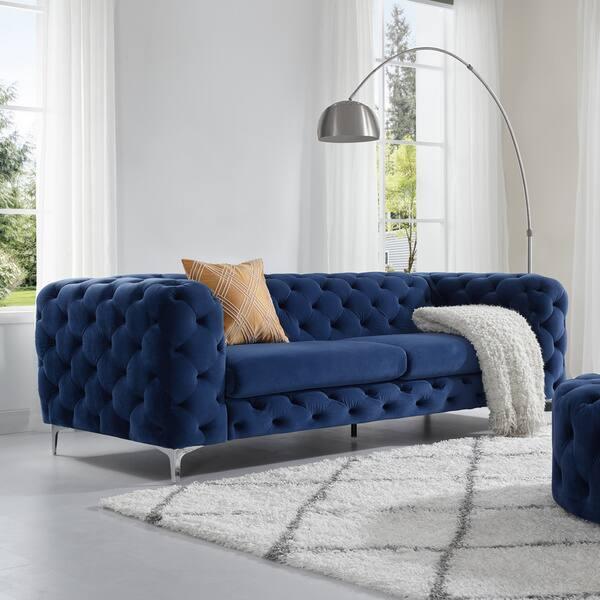 Terrific Shop Corvus Aosta Tufted Velvet Chesterfield Sofa On Sale Ncnpc Chair Design For Home Ncnpcorg