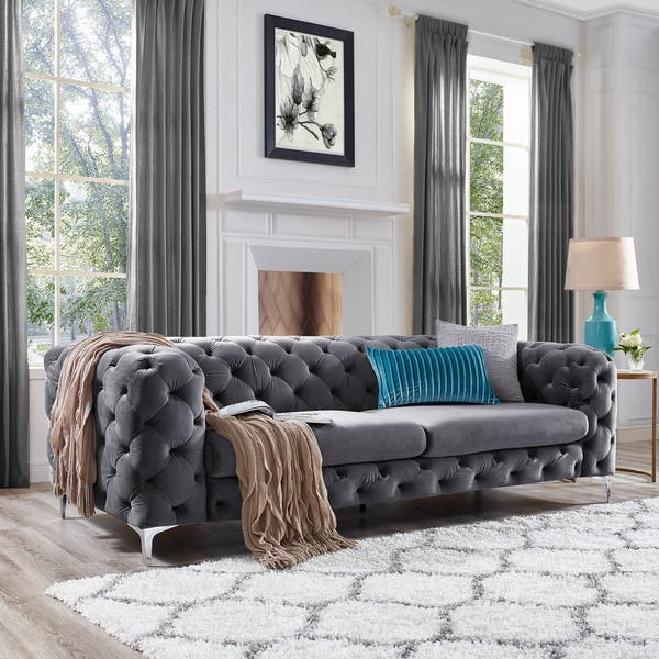 Peachy Shop Corvus Aosta Tufted Velvet Chesterfield Sofa On Sale Gmtry Best Dining Table And Chair Ideas Images Gmtryco
