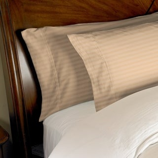 300 Thread Count Striped Cotton Pillowcase Set