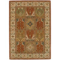 eCarpetGallery Hand-Tufted  Timeless Brown  Wool Rug (5'3 x 7'6)