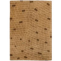 eCarpetGallery Hand-Tufted  Timeless Brown  Wool Rug (5'2 x 7'5)