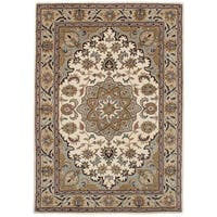 eCarpetGallery Hand-Tufted Timeless Ivory  Wool Rug (5'3 x 7'6)