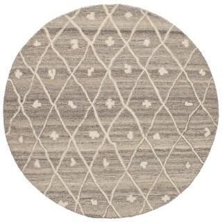 eCarpetGallery Hand-Tufted Oriental Gabbeh Grey Wool Rug (5'3 x 5'3)