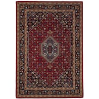 eCarpetGallery Hand-Tufted Timeless Red  Wool Rug (5'3 x 7'5)