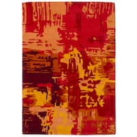 eCarpetGallery Hand-Tufted Timeless Red  Wool Rug (5'4 x 7'6)
