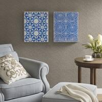 Harbor House Mosaic Tiles Blue Crushed Glass 2-piece Set