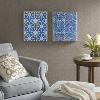 Harbor House Mosaic Tiles Blue Crushed Glass 2-piece Set