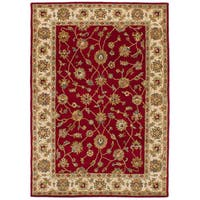 eCarpetGallery Hand-Tufted Timeless Red  Wool Rug (5'3 x 7'6)