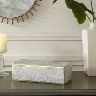 Madison Park Olivia Black/ White Resin Box - Large