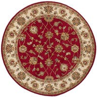 eCarpetGallery Hand-Tufted Manchester Red  Wool Rug (6'2 x 6'2)